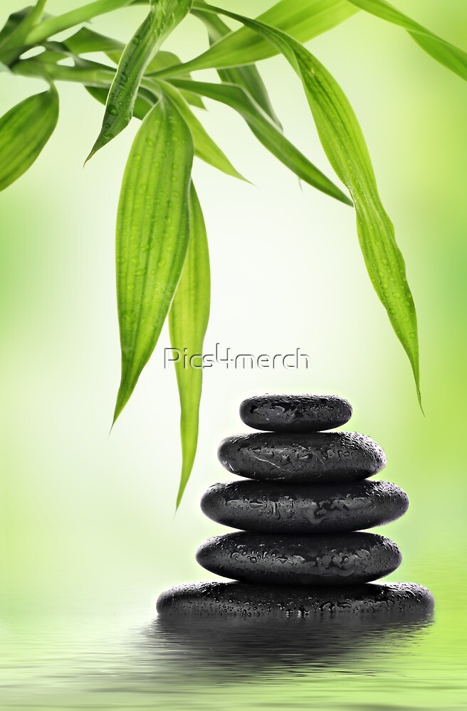 Zen stones and bamboo by Pics4merch