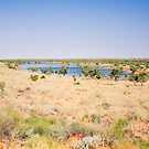 Sand Dune and Lakes near Old Andado Homestead  by Richard  Windeyer