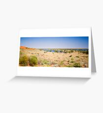 Sand Dune and Lakes near Old Andado Homestead  Greeting Card