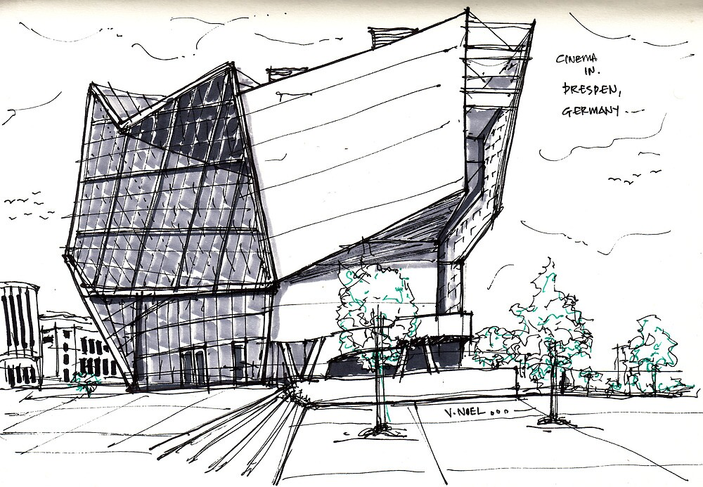 Quot Architecture Sketch Ufa Cinema In Dresden Germany Quot By