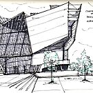 Architecture Sketch – UFA Cinema in Dresden, Germany by Vernelle  Noel