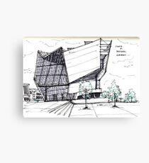 Architecture Sketch – UFA Cinema in Dresden, Germany Canvas Print