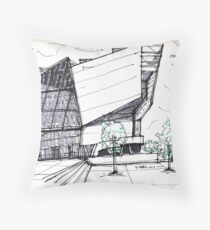Architecture Sketch – UFA Cinema in Dresden, Germany Throw Pillow