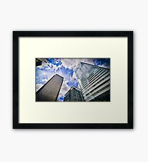 Canary Wharf And It's Competiton Framed Print