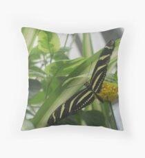Zebra Longwing Throw Pillow