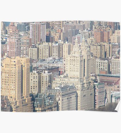 Aerial View of Upper West Side of Manhattan Poster