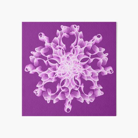 Delicate Abstract Flower in Lilac Art Board Print