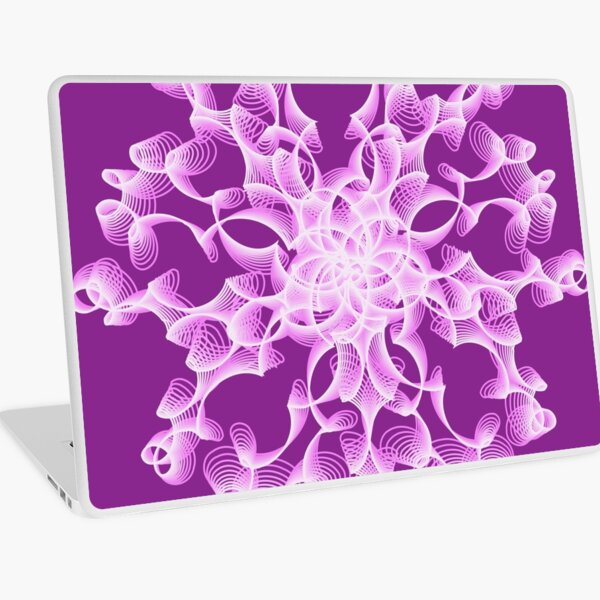 Delicate Abstract Flower in Lilac Laptop Skin
