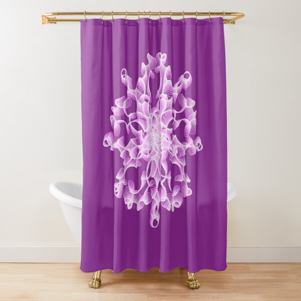 Delicate Abstract Flower in Lilac Shower Curtain