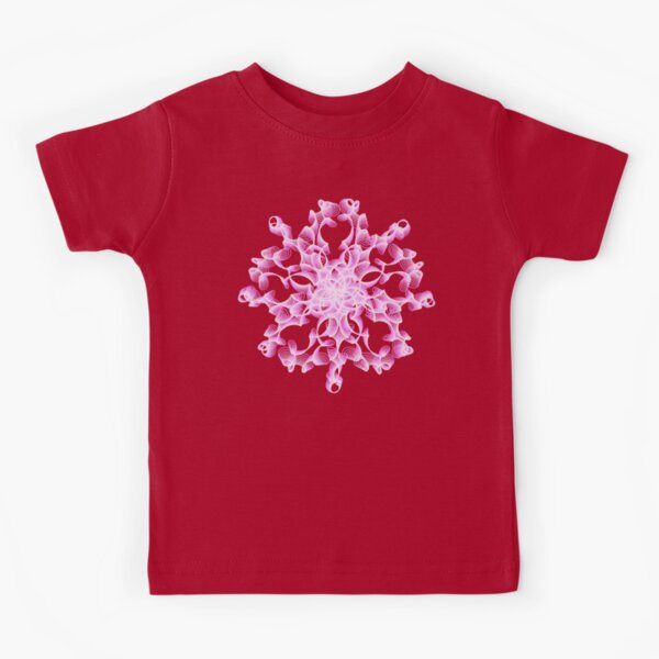 Delicate Abstract Flower in Lilac Kids T-Shirt