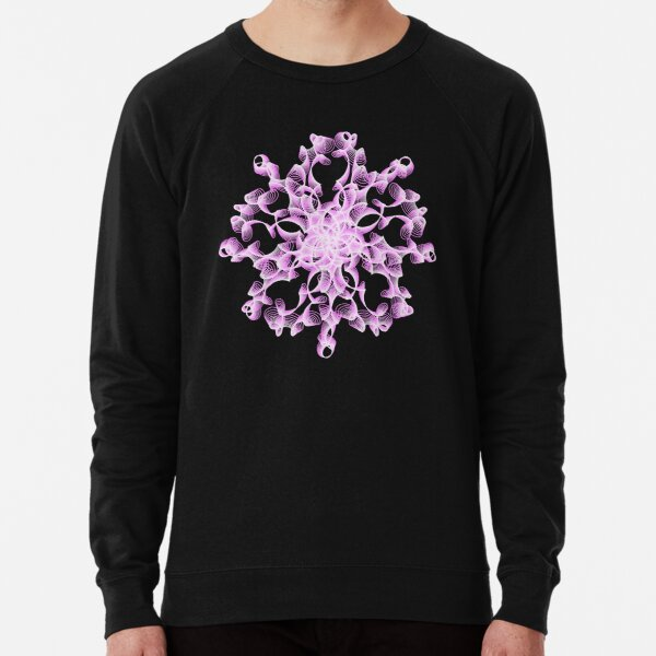 Delicate Abstract Flower in Lilac Lightweight Sweatshirt
