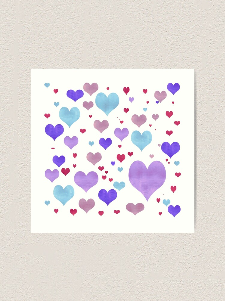 Alternate view of Just Love Hearts Art Print