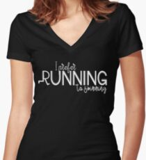 I prefer running to swimming | TS Fitted V-Neck T-Shirt
