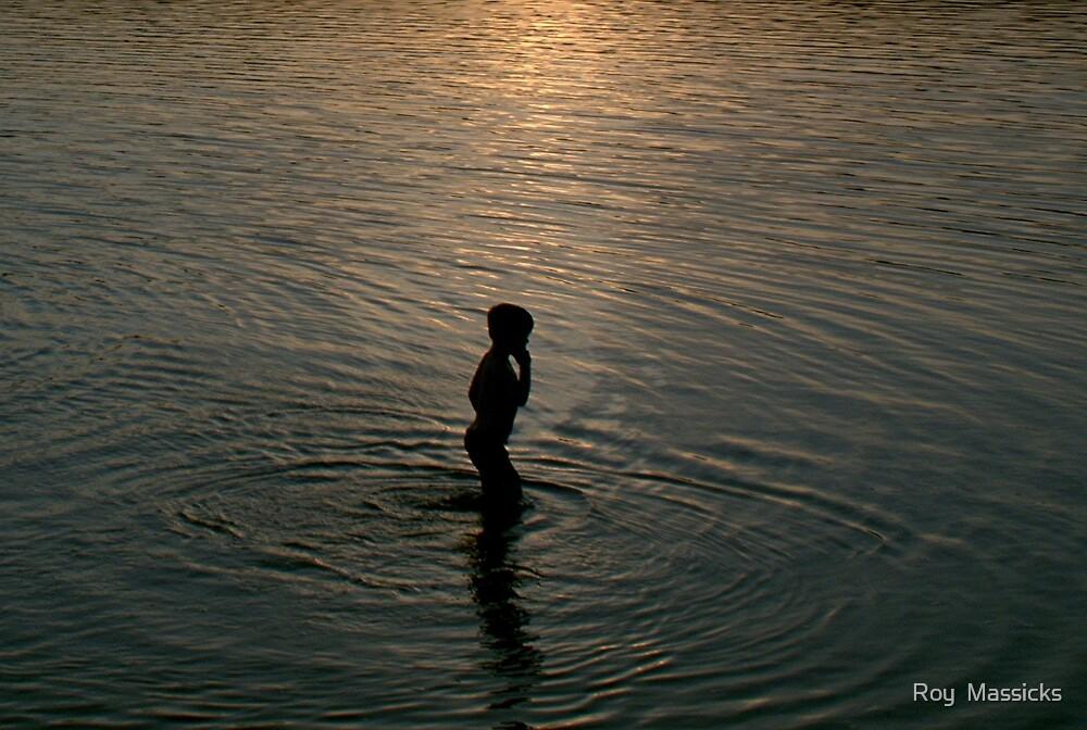 Last swim of the day. by Roy  Massicks
