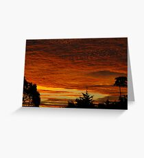 Sunset, Northern Rivers Greeting Card