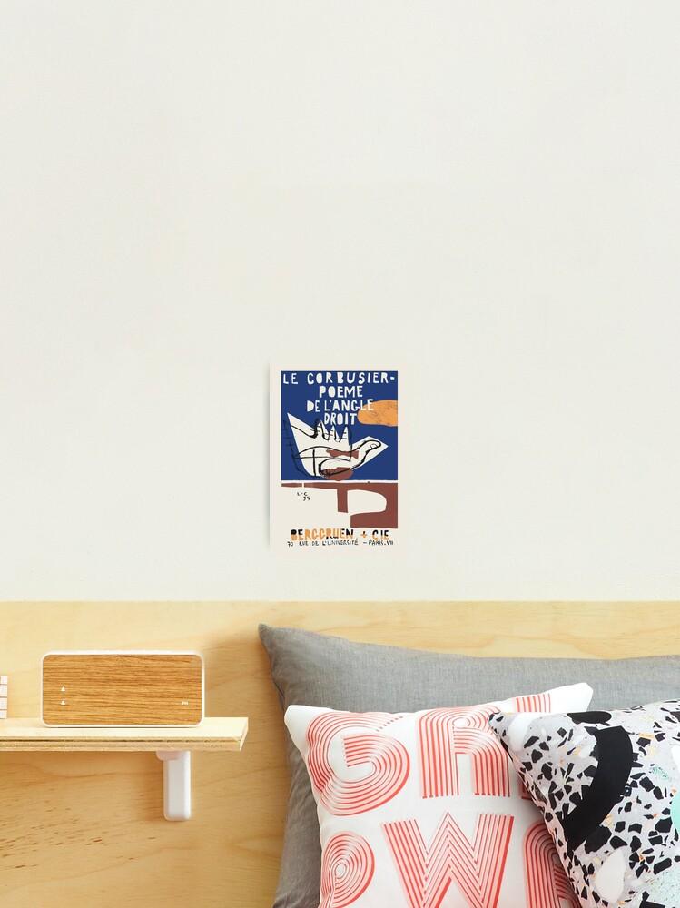 Le Corbusier Exhibition Poster For Poeme De Langle Droit 1995 In Paris Photographic Print