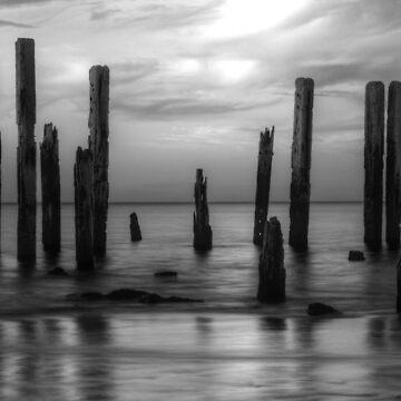 Port Willunga B&W by TimeScape