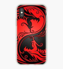 Yin Yang Dragons Red and Black iPhone Case
