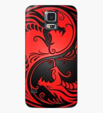 Yin Yang Dragons Red and Black Case/Skin for Samsung Galaxy