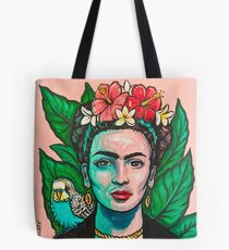 Pink Frida Kahlo Tote Bag