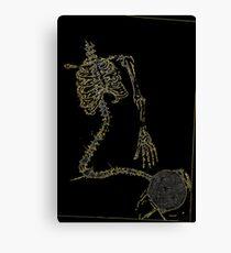 Skeleton Knit Canvas Print