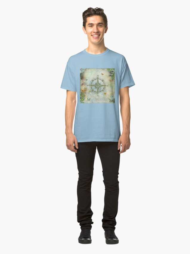 Alternate view of Vintage Butterfly Compass Classic T-Shirt