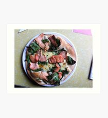 Pizza Salmone Art Print