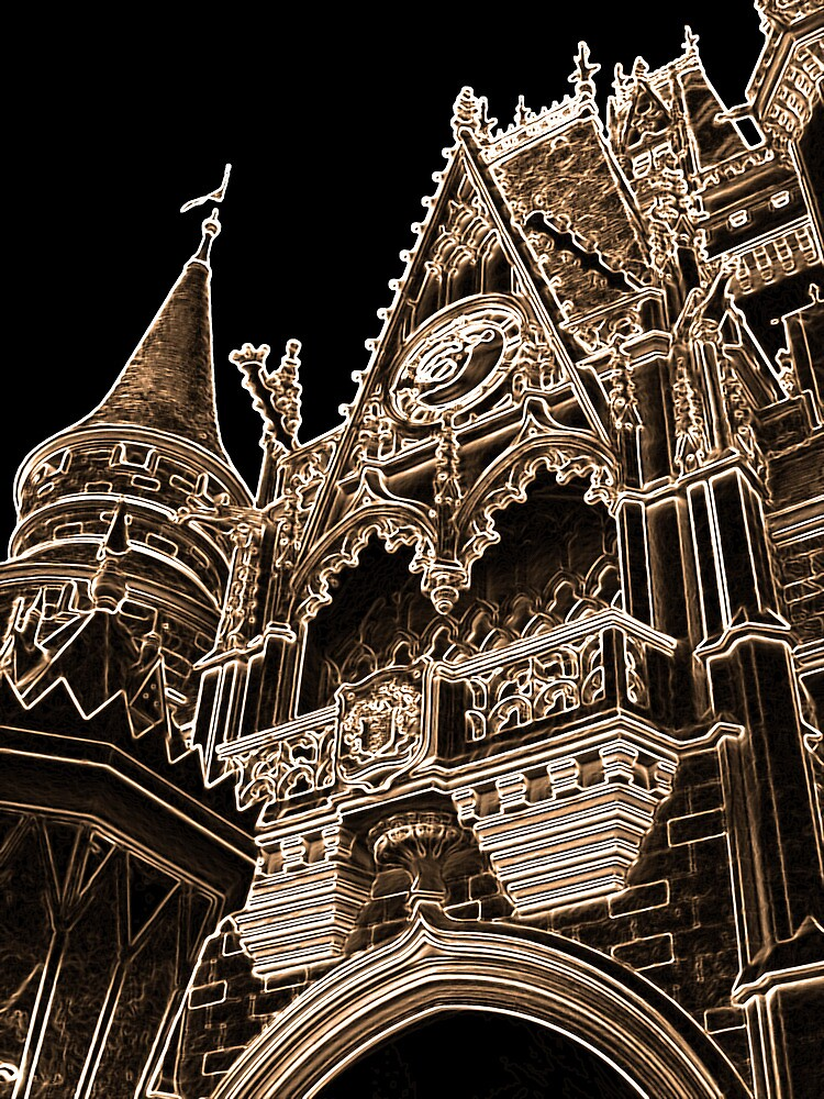 Castle Spires - Light Etch Series by Z.S. Lewis