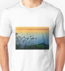 Trasimeno boats at sunset, Umbria, Italy Unisex T-Shirt