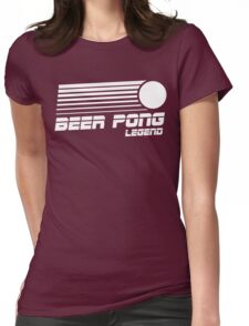 Beer Pong Legend Vintage Shirt Womens Fitted T-Shirt