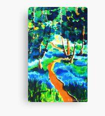 The winding path on silk Canvas Print
