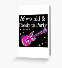 ROCK N ROLL 16TH BIRTHDAY DESIGN Greeting Card