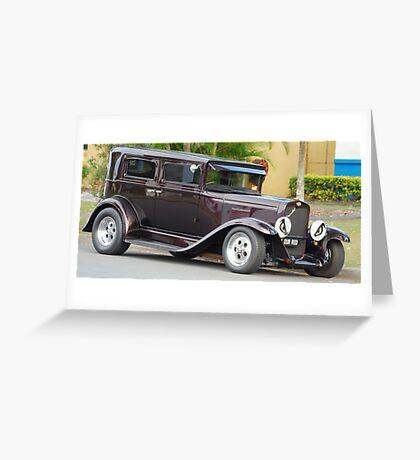 Maroon Chevrolet Greeting Card