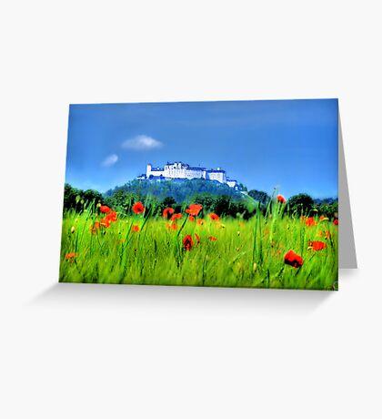 Salzburg Poppies Greeting Card