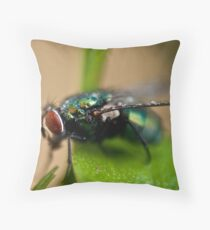 Resting fly. Throw Pillow