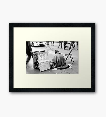 A Business Point of View Framed Print