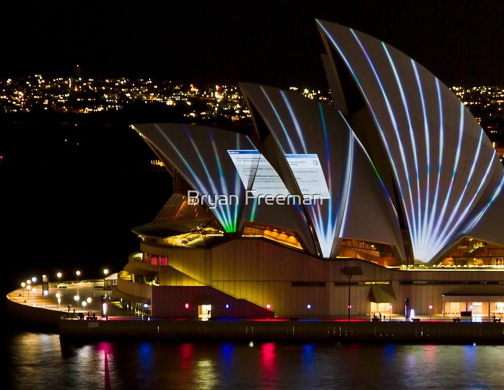 Error Msg Sails - Sydney Vivid Festival - Sydney Opera House by Bryan Freeman