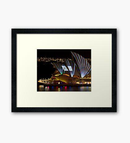 Error Msg Sails - Sydney Vivid Festival - Sydney Opera House Framed Print