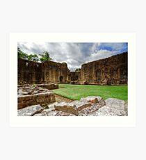 Whalley Abbey Ruins Art Print