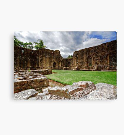 Whalley Abbey Ruins Canvas Print