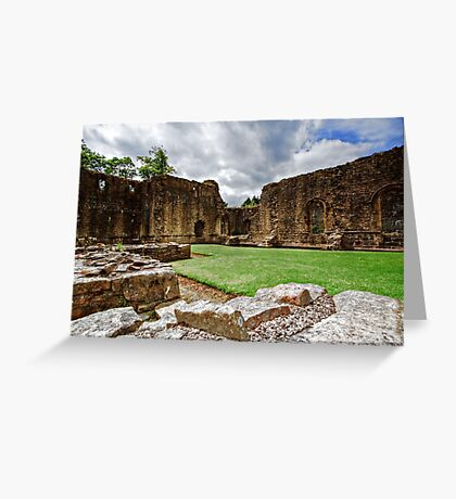 Whalley Abbey Ruins Greeting Card