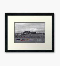 Lochwinnoch boats Framed Print