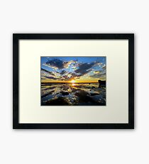 Explosion! Sunset Wellington Point, QLD Framed Print