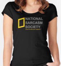 National Sarcasm Society Women's Fitted Scoop T-Shirt