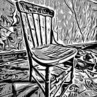 Old chair in abandoned house by Andre Faubert