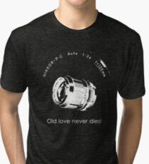 Nikkor 105mm White Old love never dies! Tri-blend T-Shirt