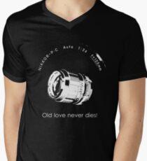 Nikkor 105mm White Old love never dies! Men's V-Neck T-Shirt