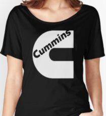 CUMMINS WHITE Women's Relaxed Fit T-Shirt