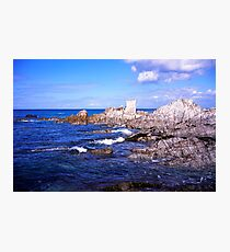 Devon coast by lee bay Photographic Print