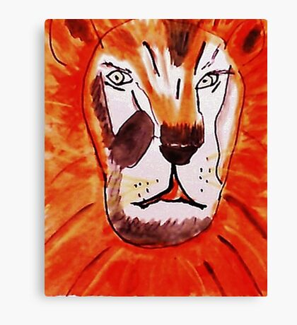 The Tigar, watercolor Canvas Print